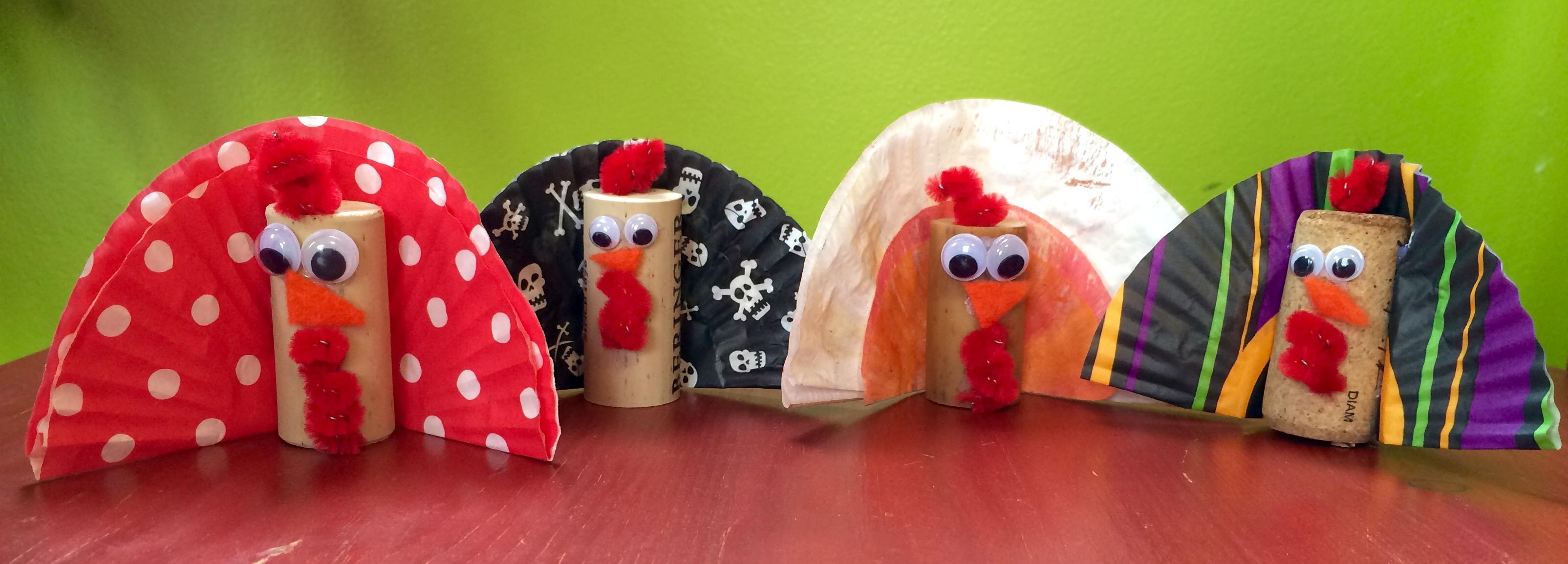 wine cork turkey craft thanksgiving