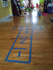 indoor hotscotch boredom buster kids activity