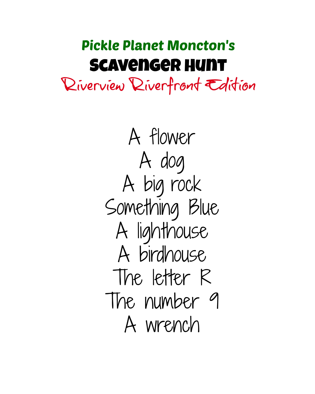 pickle planet riverview scavenger hunt