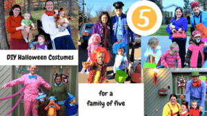 family five group halloween costumes diy