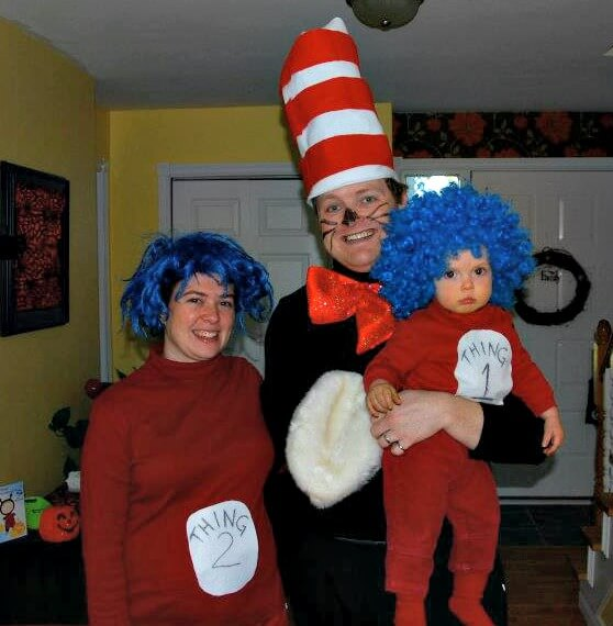 family group five halloween costumes cat in the hat