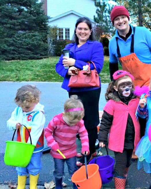 family five group halloween costumes PAW Patrol