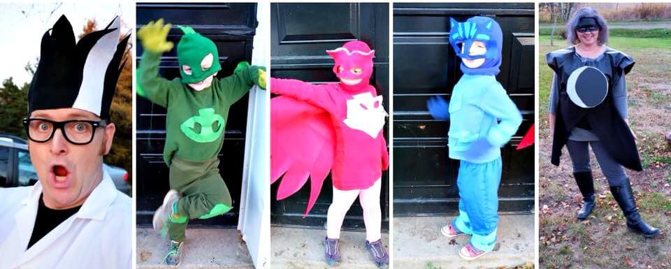 pj masks halloween costume family of five