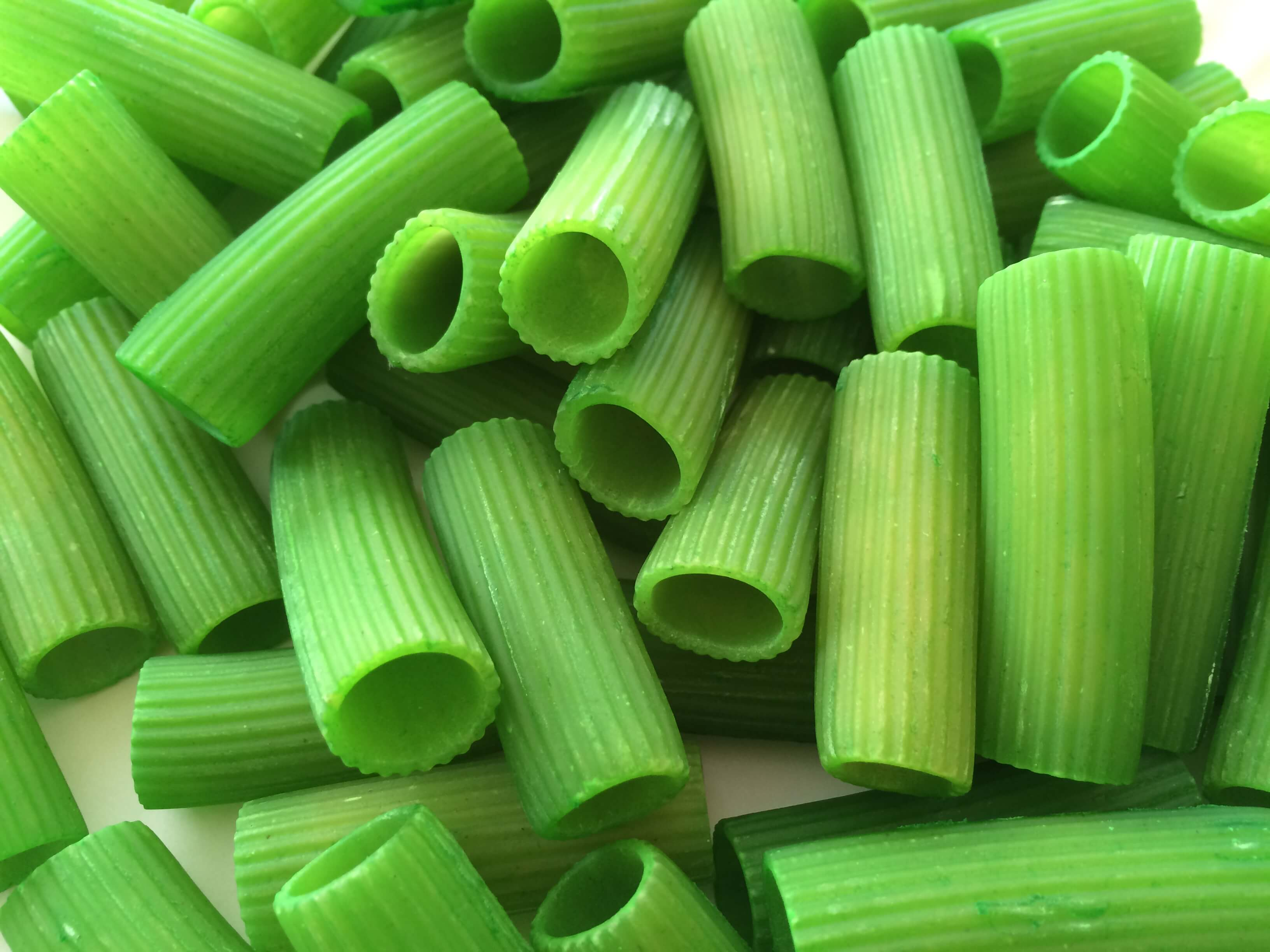 dyed green pasta for st patrick's day necklaces