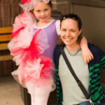 Young theatre performer Lily and her supportive mom, Katie