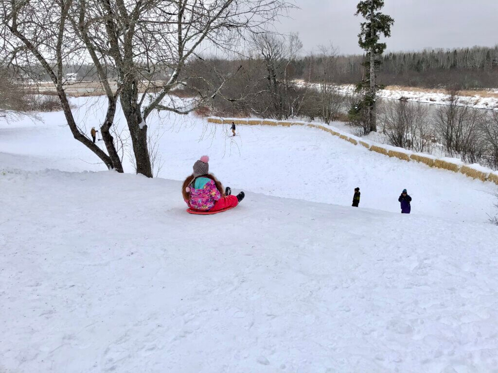 Sliding sledding toboggan hills moncton Riverview Dieppe salisbury New Brunswick