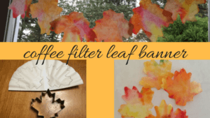 diy coffee filter fall craft leaf banner