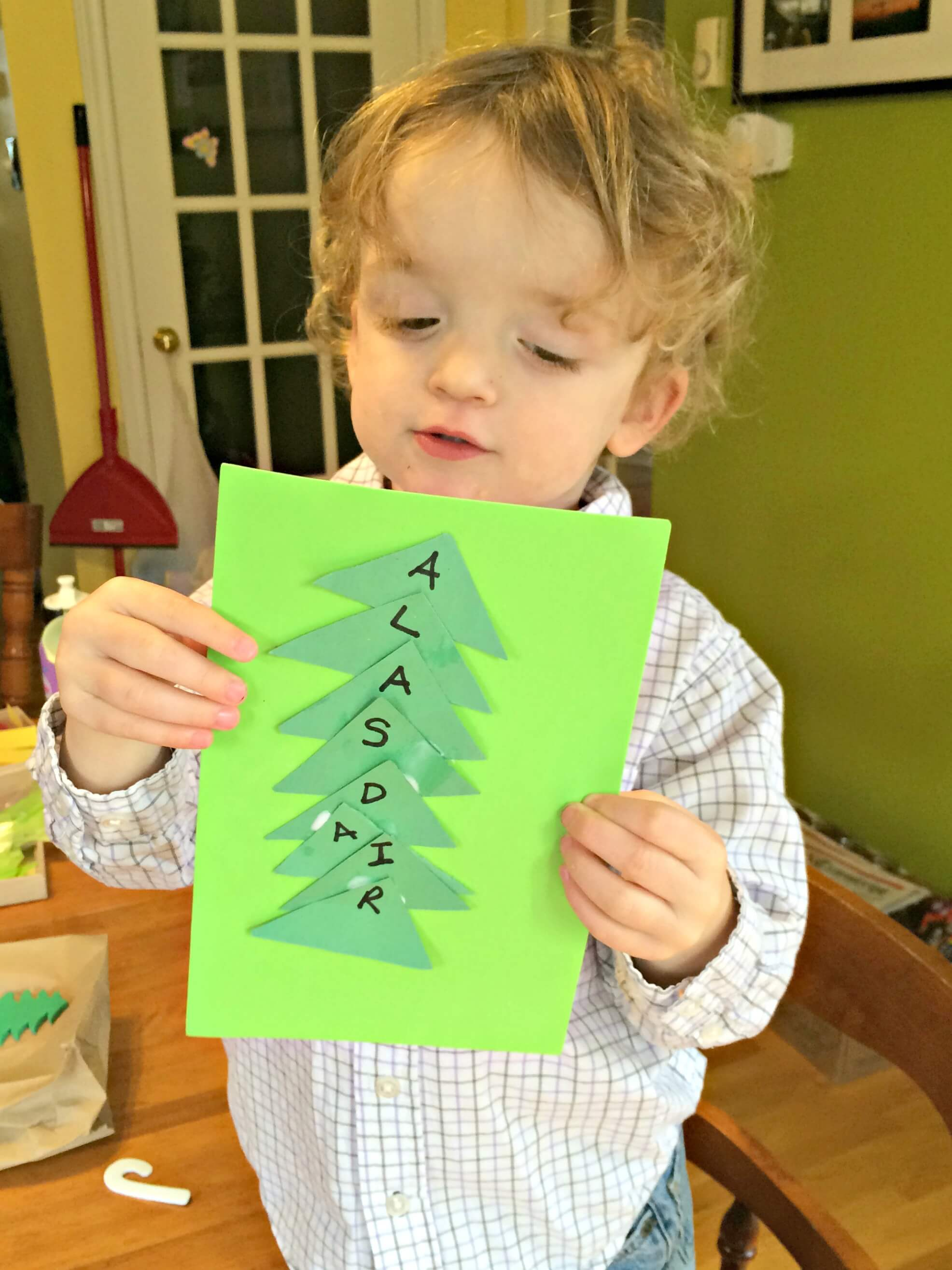 christmas literacy crafts simple preschool toddler letter recognition