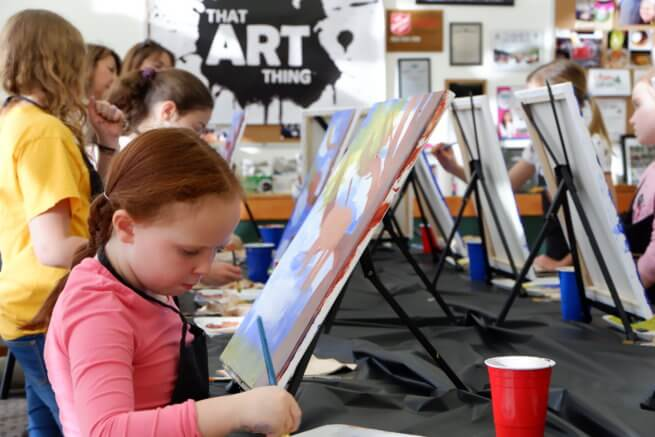 kids paint workshop at riverview superstore things to do moncton kids family parents fun paint workshop night