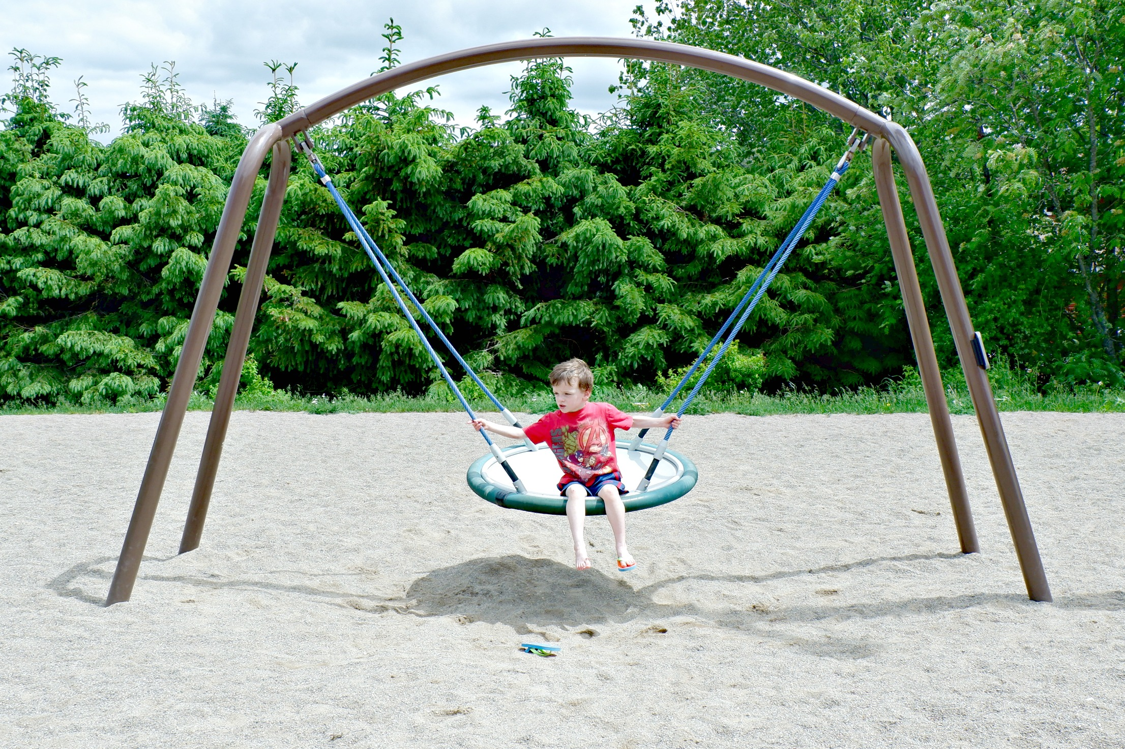 bridgedale playground riverview moncton dieppe best park play space pickle planet saucer swing