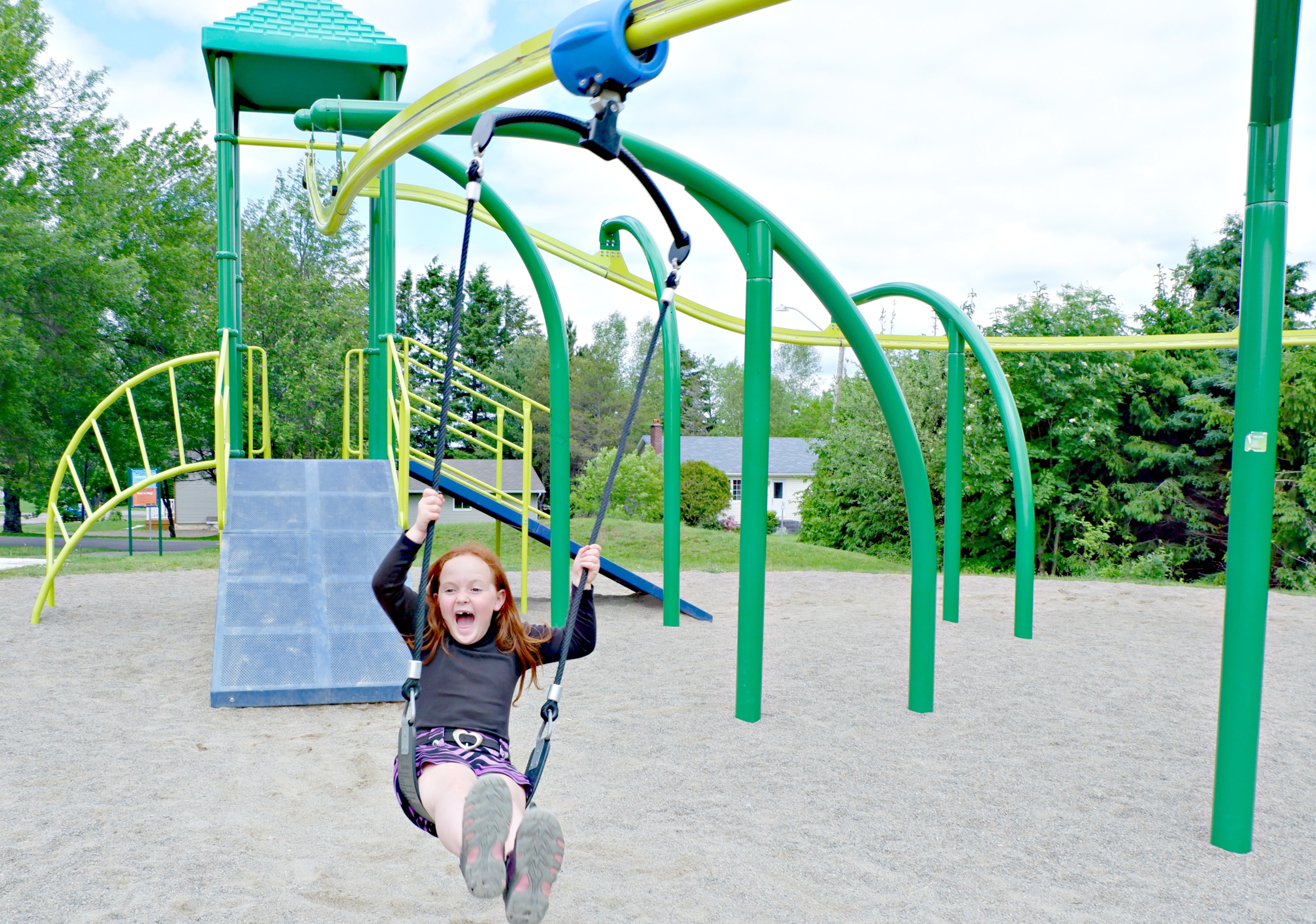 bridgedale playground riverview moncton dieppe best park play space pickle planet zipline scream