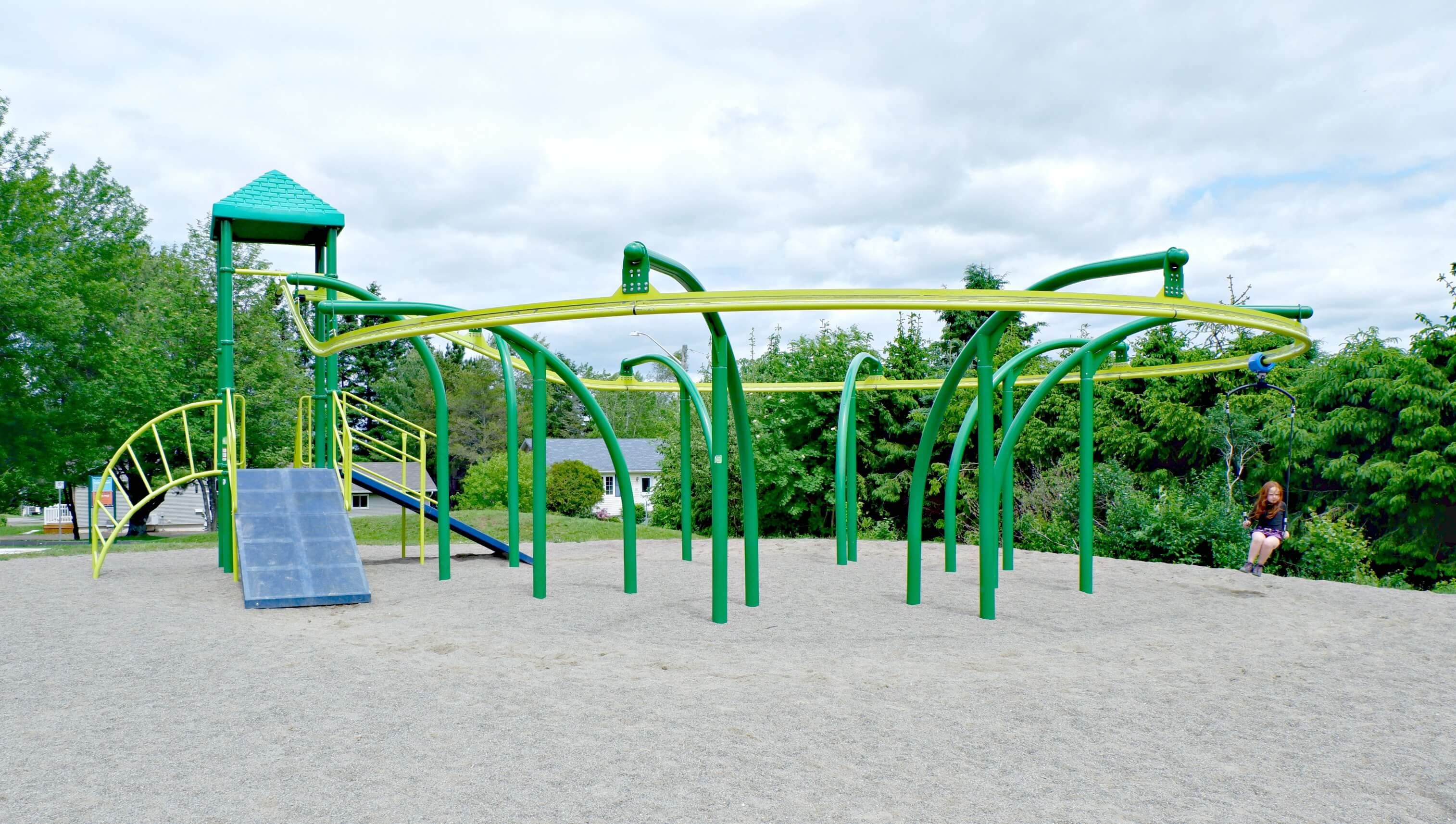 bridgedale playground riverview moncton dieppe best park play space pickle planet zipline