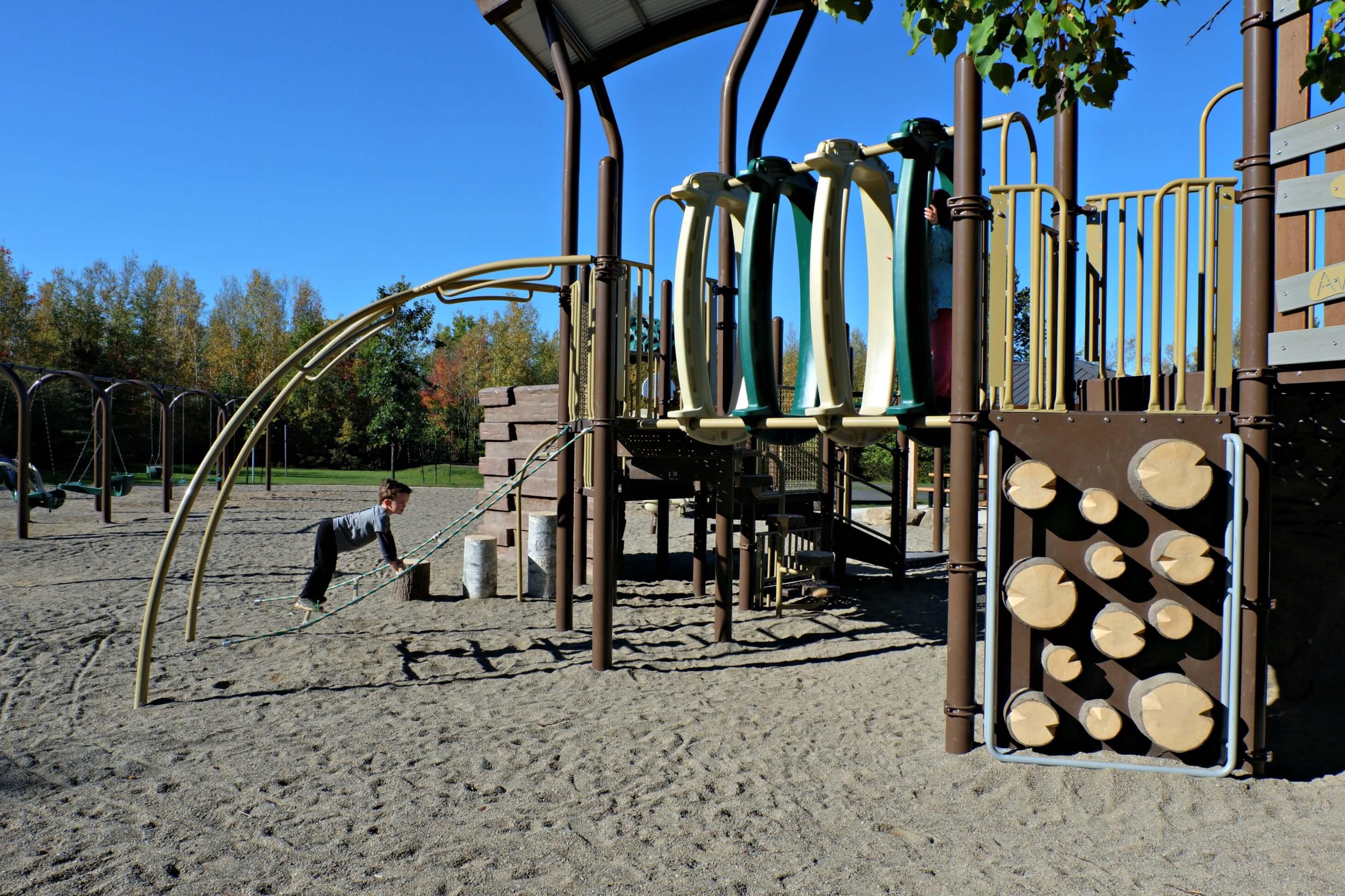 maplehurst park playground moncton riverview dieppe best play new brunswick climbing