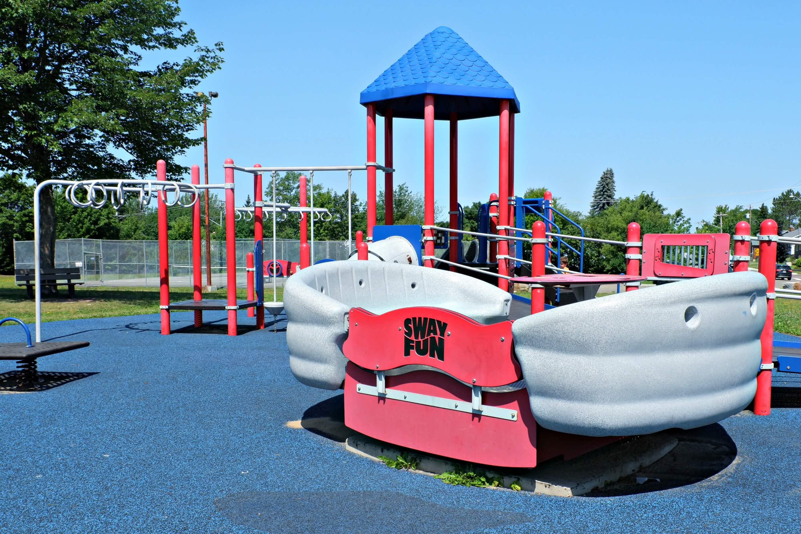 riverview patricia park tot lot accessible playground pickle planet sway fun
