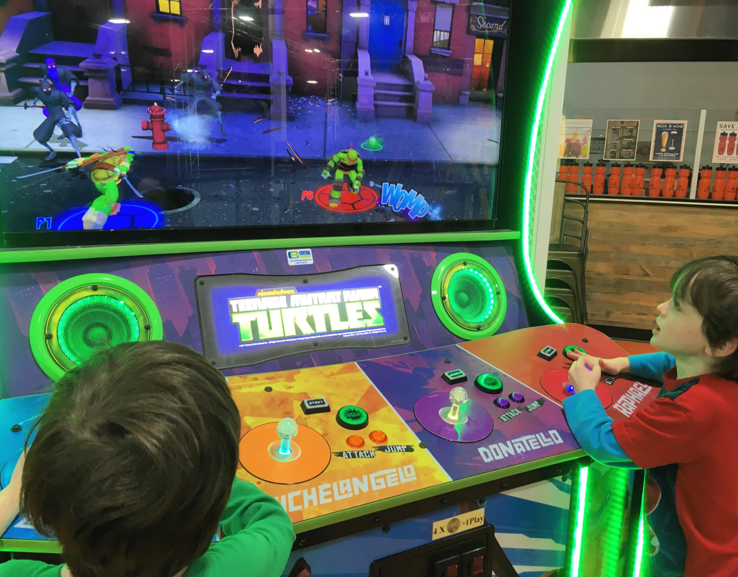 skyzone arcade moncton dieppe ninja turtle game kids