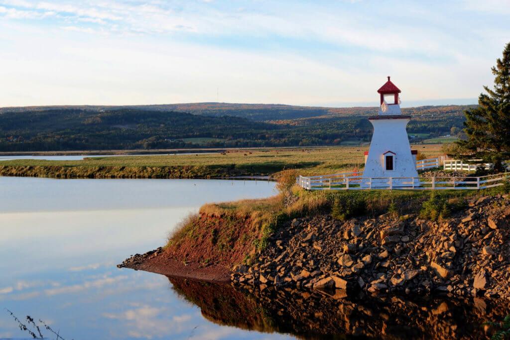 Shipyard Heritage Park Riverside-Albert lighthouse new brunswick pickle planet