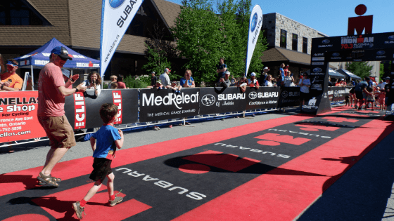 cerebral palsy runner celebrity endorsement role model inspiration ironman kids triathlon race