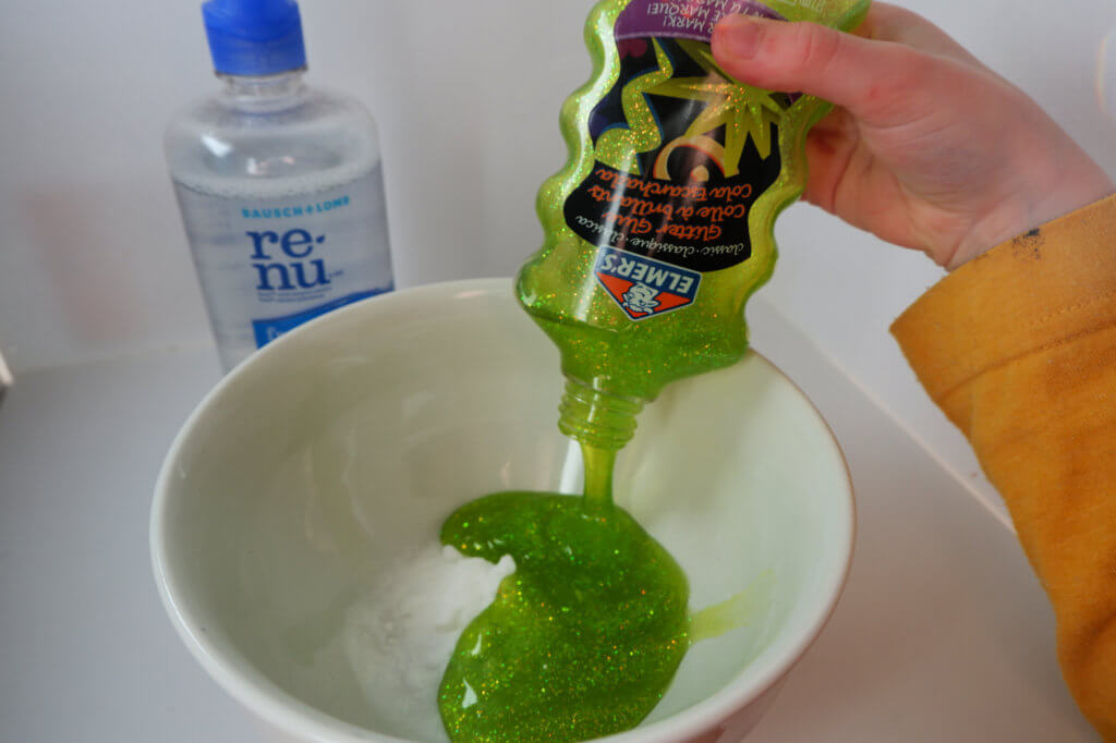 st patrick's day slime no borax contact solution