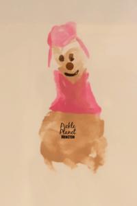 paw patrol footprint art craft painting pickle planet skye