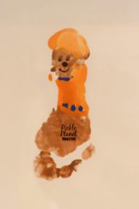 paw patrol footprint art craft painting pickle planet zuma