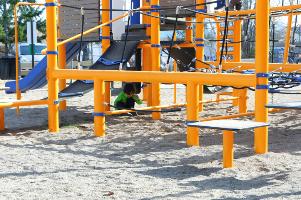 westbrook circle park community avenue playground climbing structure older kids fun moncton pickle planet