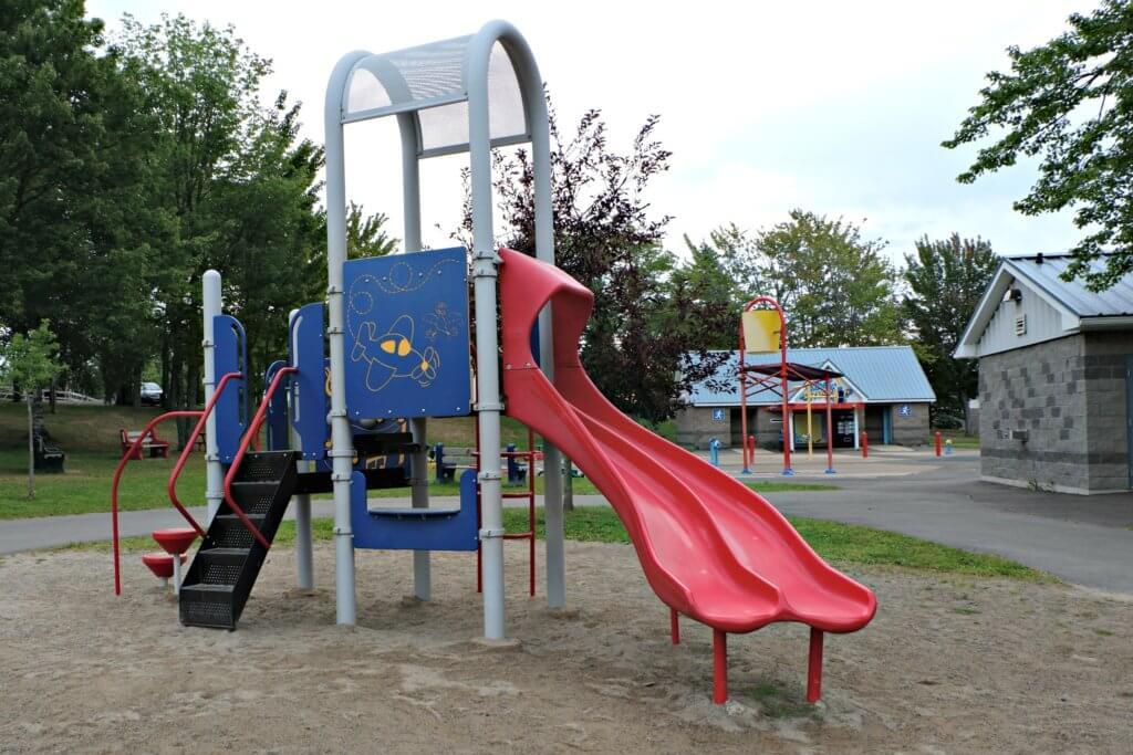inclusive playground moncton centennial park pickle planet toddler double slide