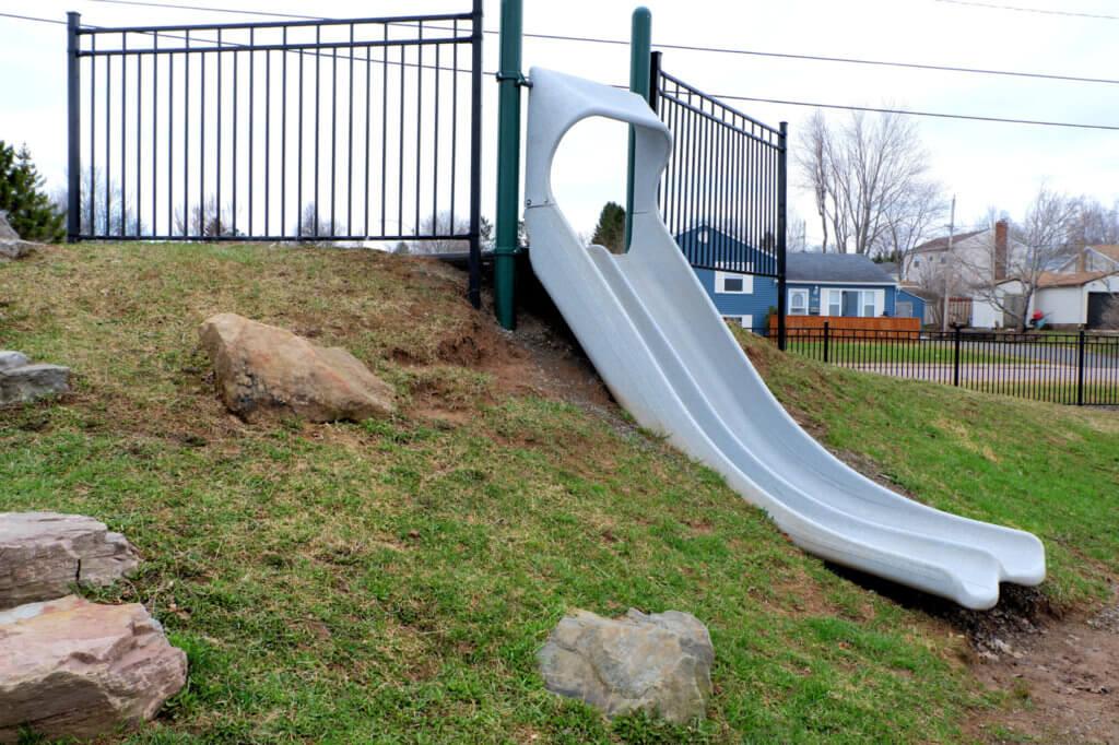 riverview hawthorne drive park playground moncton pickle planet natural double slide