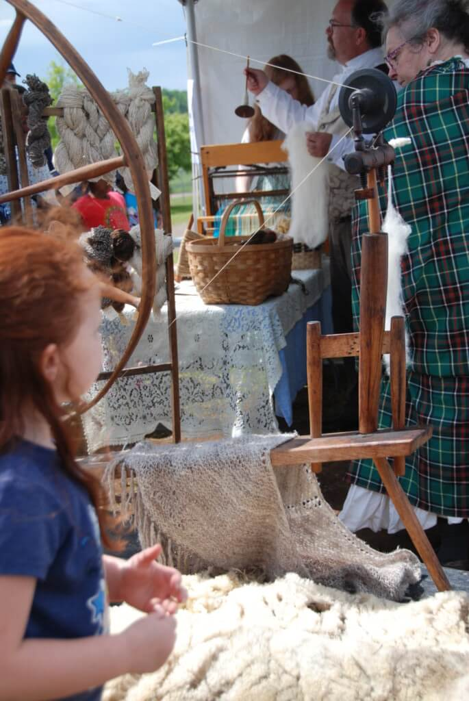 moncton highland games sheep shearing spinning wool history pioneer
