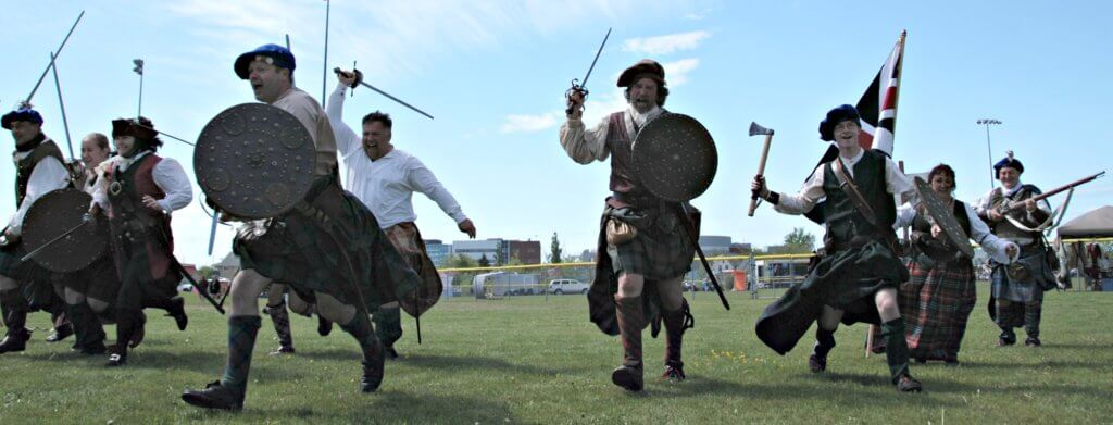 moncton highland games gallus gael sword fight historical reenactors jacobite rebellion
