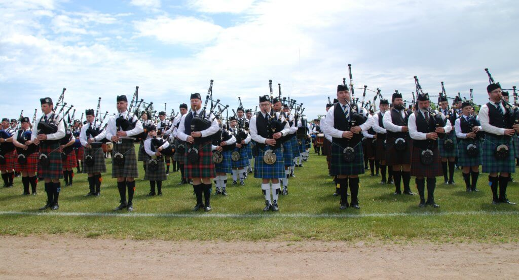 moncton highland games massed bands opening