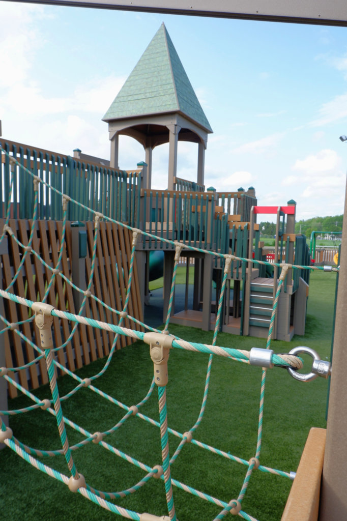 Rebecca Schofield All World Super Play Park accessible inclusive moncton riverview new brunswick dieppe best playgrounds climbing fun pickle planet