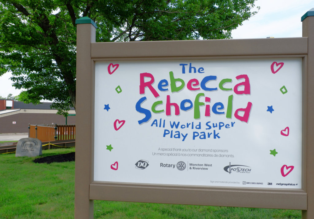 Rebecca Schofield All World Super Play Park accessible inclusive moncton riverview new brunswick dieppe best playgrounds frank l bowser cleveland drive pickle planet