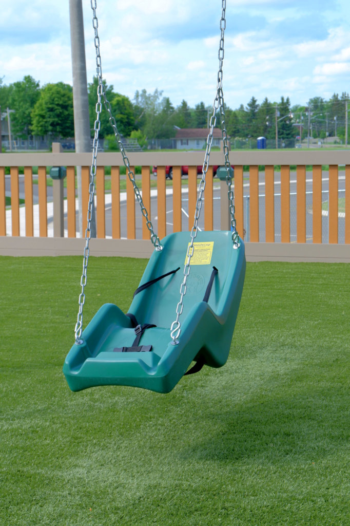 rebecca schofield all world super play park riverview moncton playground castle accessible inclusive swings