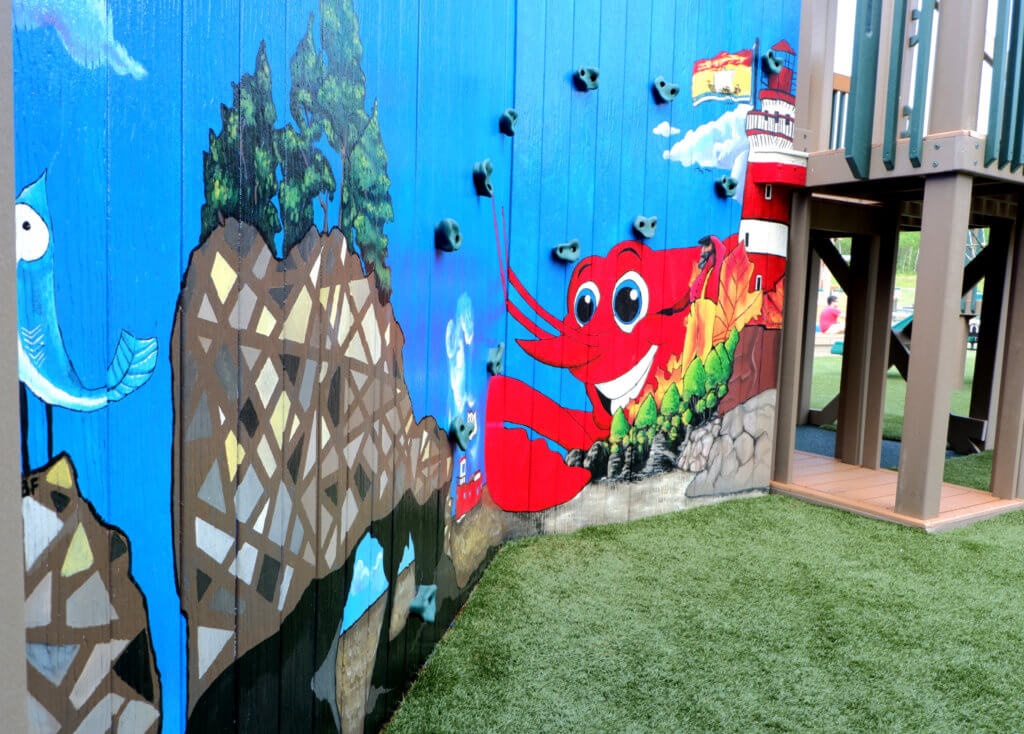 rebecca schofield all world super play park riverview moncton playground castle mural hopewell rocks alma fundy lobster new brunswick best playgrounds