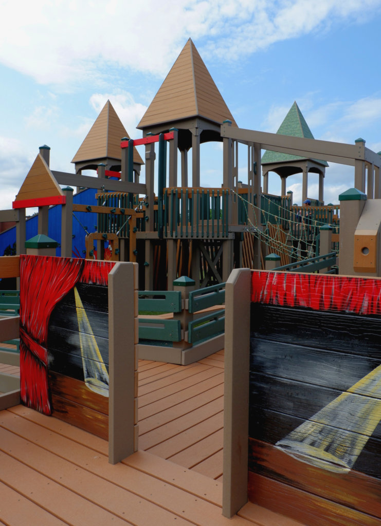 rebecca schofield all world super play park riverview moncton playground castle stage creative