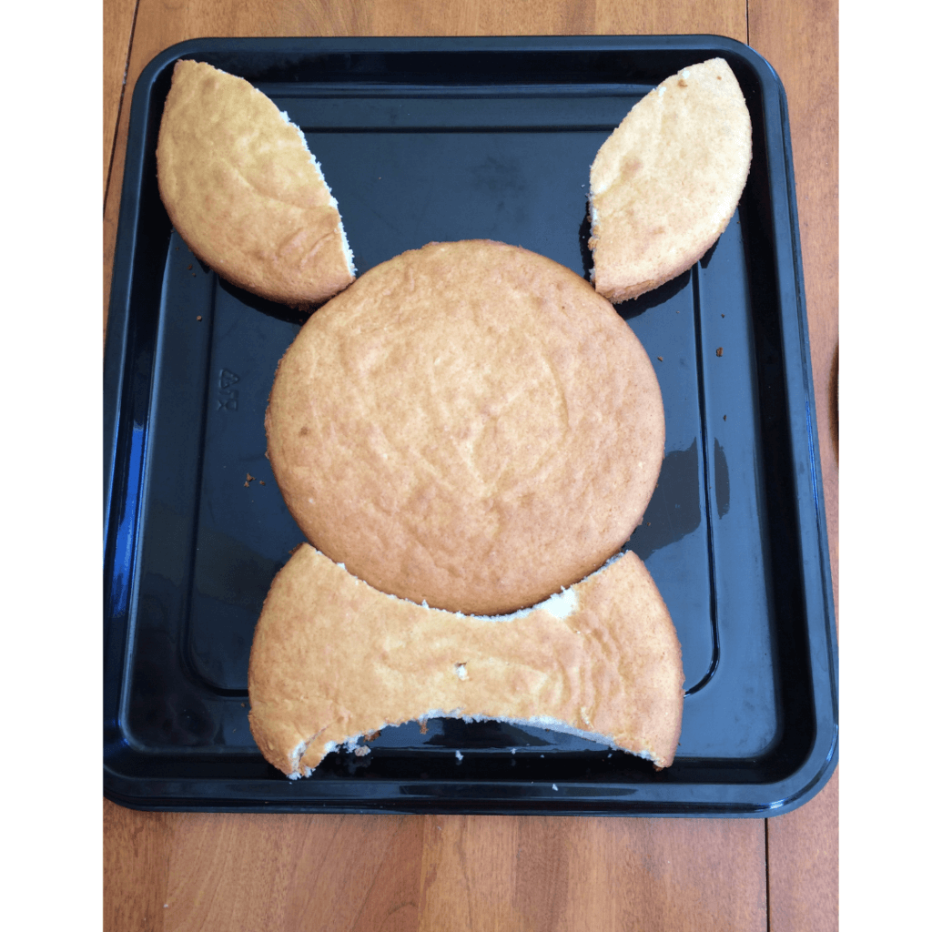 easy easter bunny cake assembled