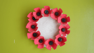 remembrance day crafts kids preschool november pickle planet diy poppy wreath