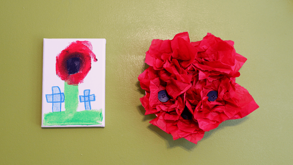 remembrance day crafts kids preschool november pickle planet painting