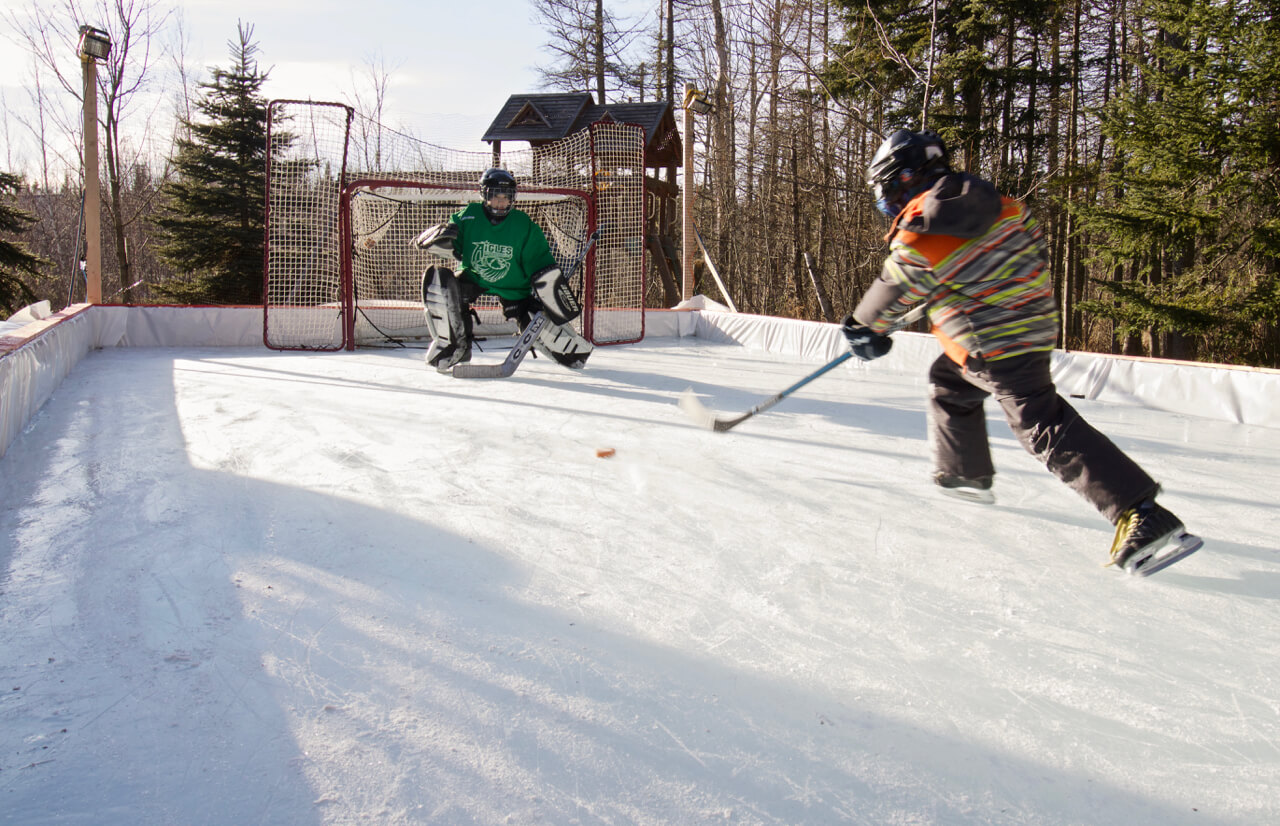 how to build a backyard skating rink hockey winter moncton riverview dieppe new brunswick pickle planet