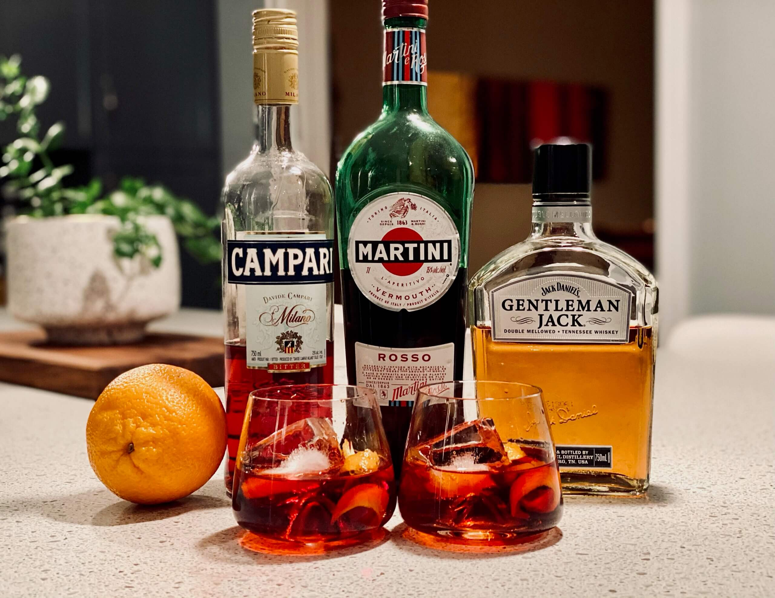 Boulevardier christmas cocktail whiskey covid 2020