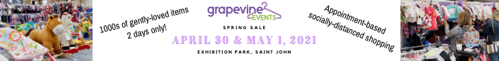 grapevine events spring pop up sale april 30 may 1 saint john exhibition park 1000s of gently-used kids' clothing items & more socially-distanced shopping appointments available