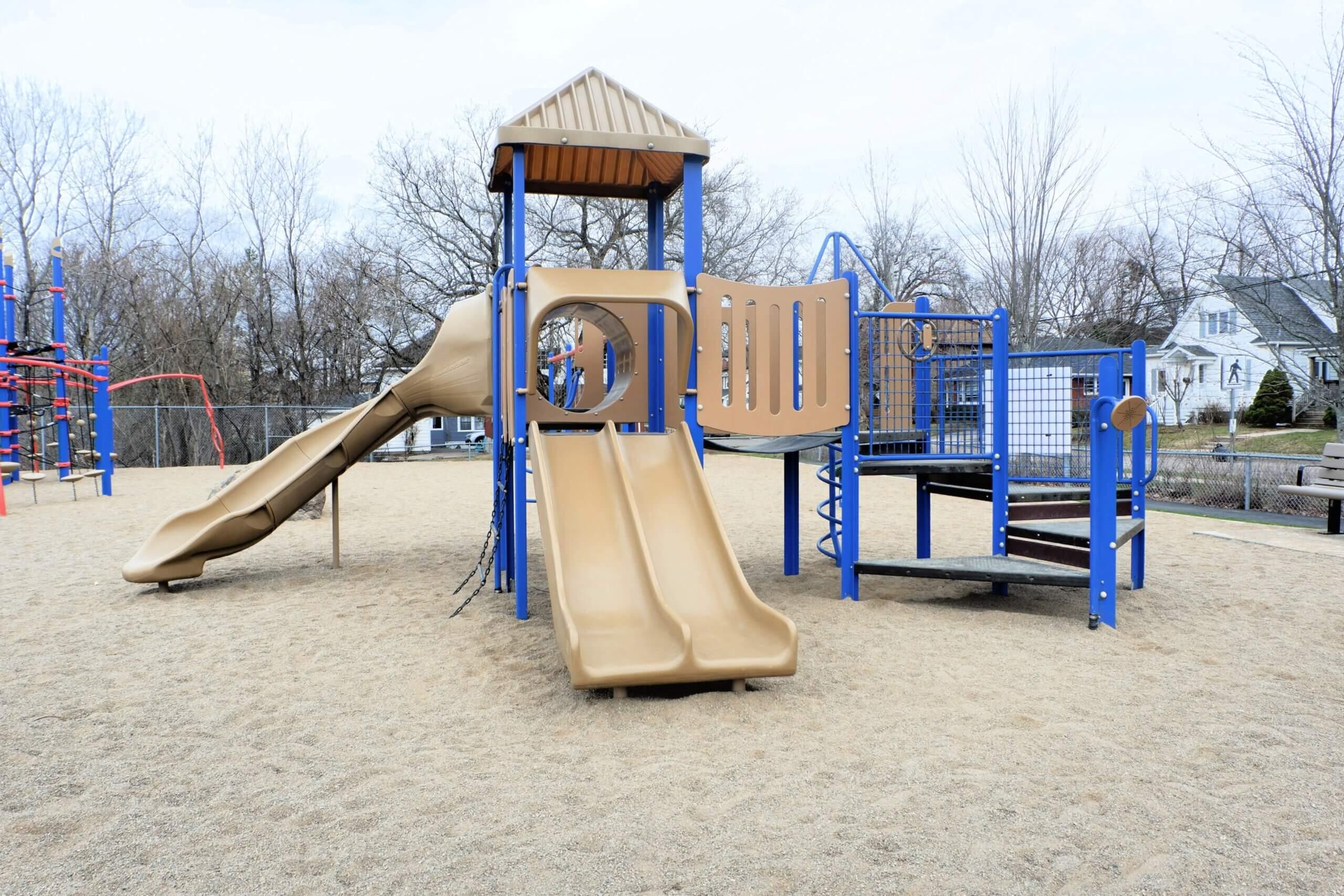 moncton hall's creek marjorie street playground park PICKLE PLANET double slide