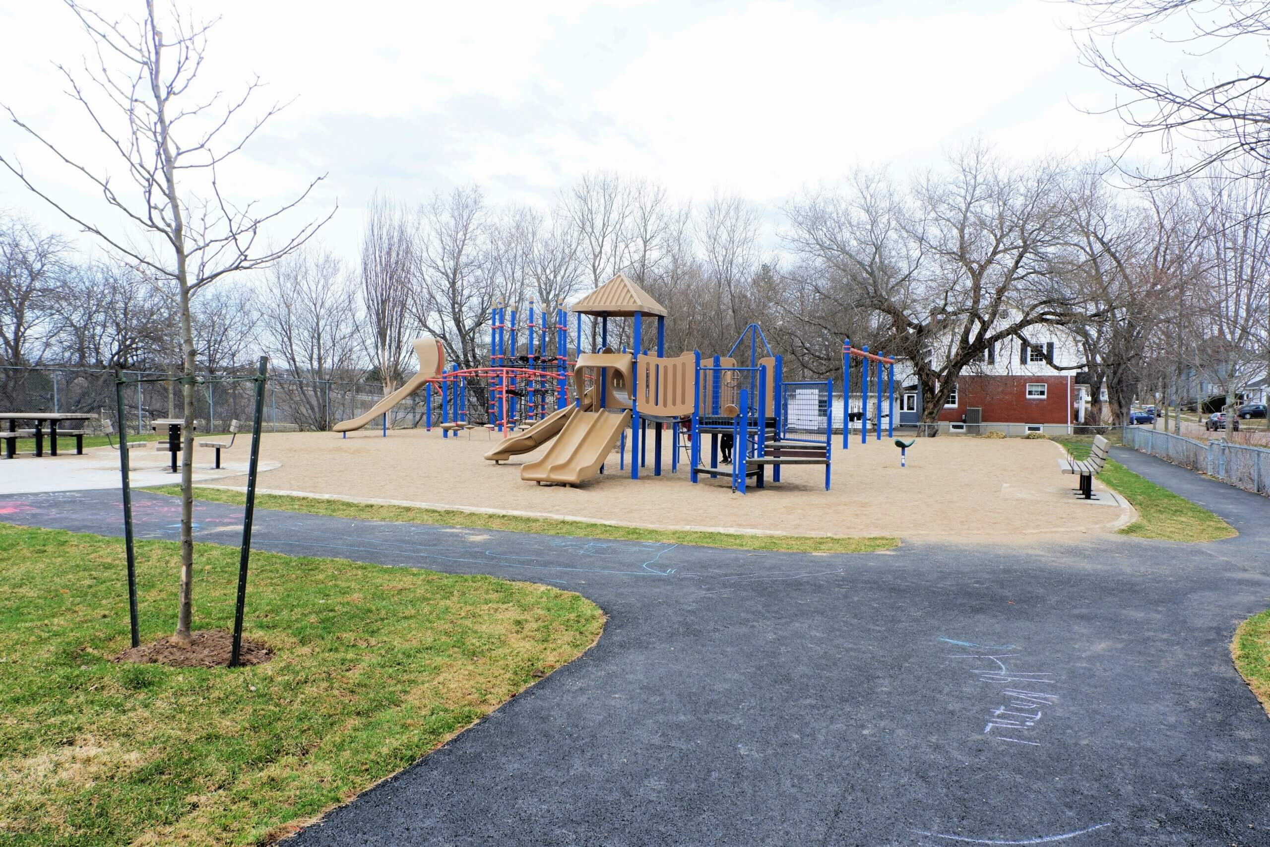 moncton hall's creek marjorie street playground park PICKLE PLANET good places to go when learning to ride a bike in moncton