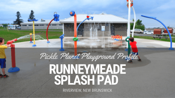 riverview splash pad runneymeade playground PICKLE PLANET MONCTON