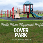 pickle planet playground profile of dover park dieppe with playground equipment and paved paths to learn to ride a bike
