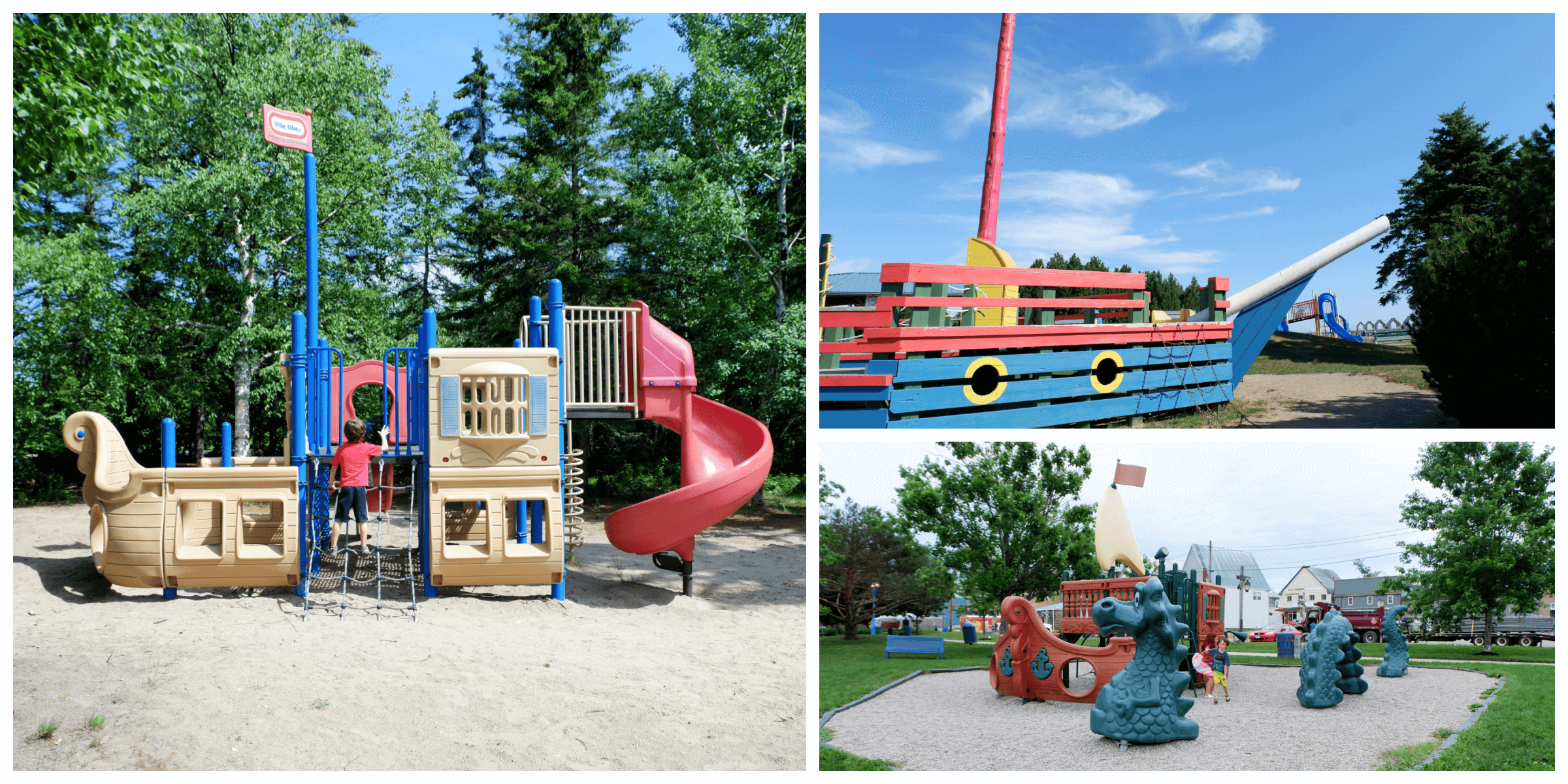 three pirate ship themed playgrounds in new brunswick pickle planet