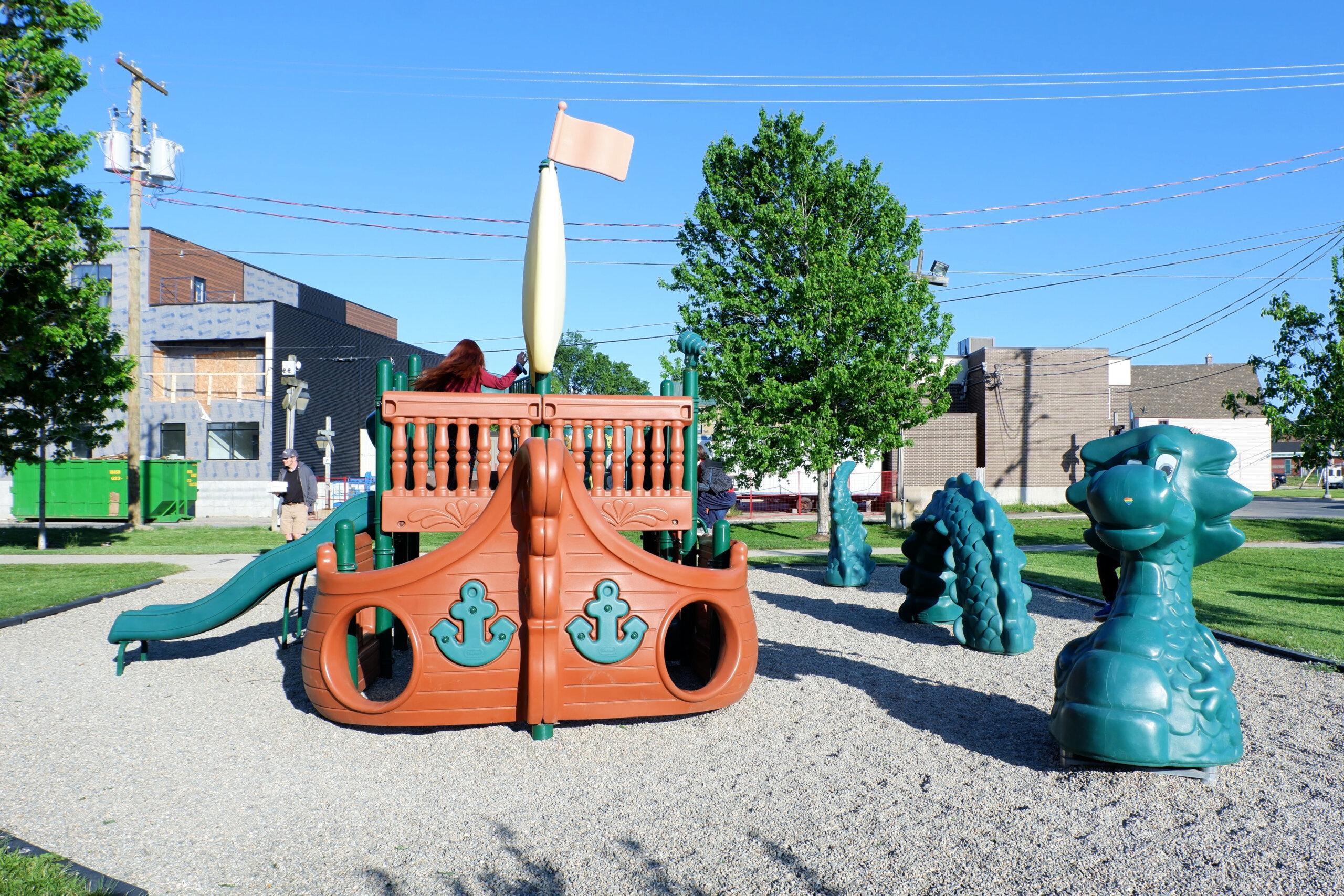 miramichi playground pirate ship waterford green pickle planet