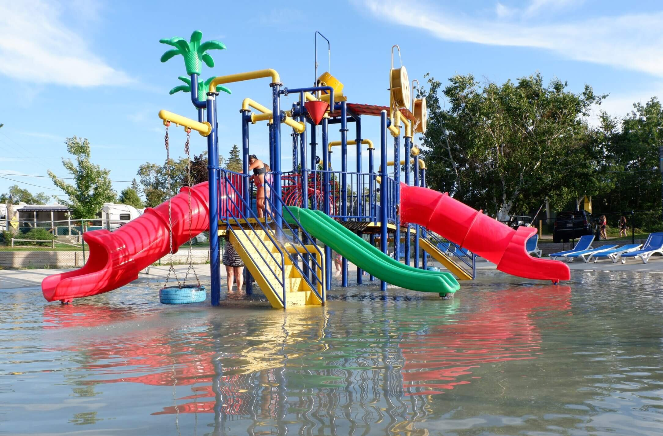 water park at campsite