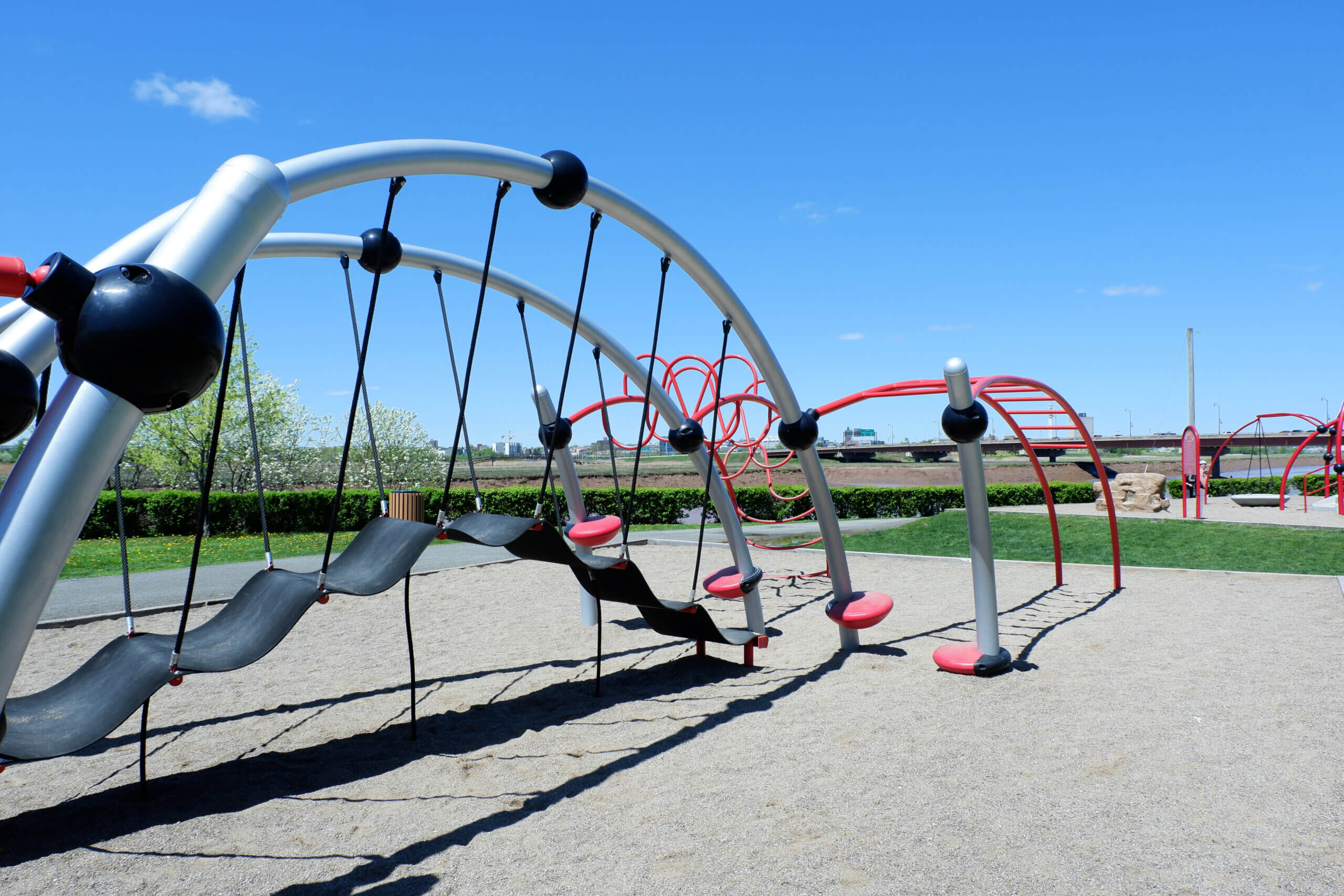 riverview riverfront playground moncton pickle planet climbing structure