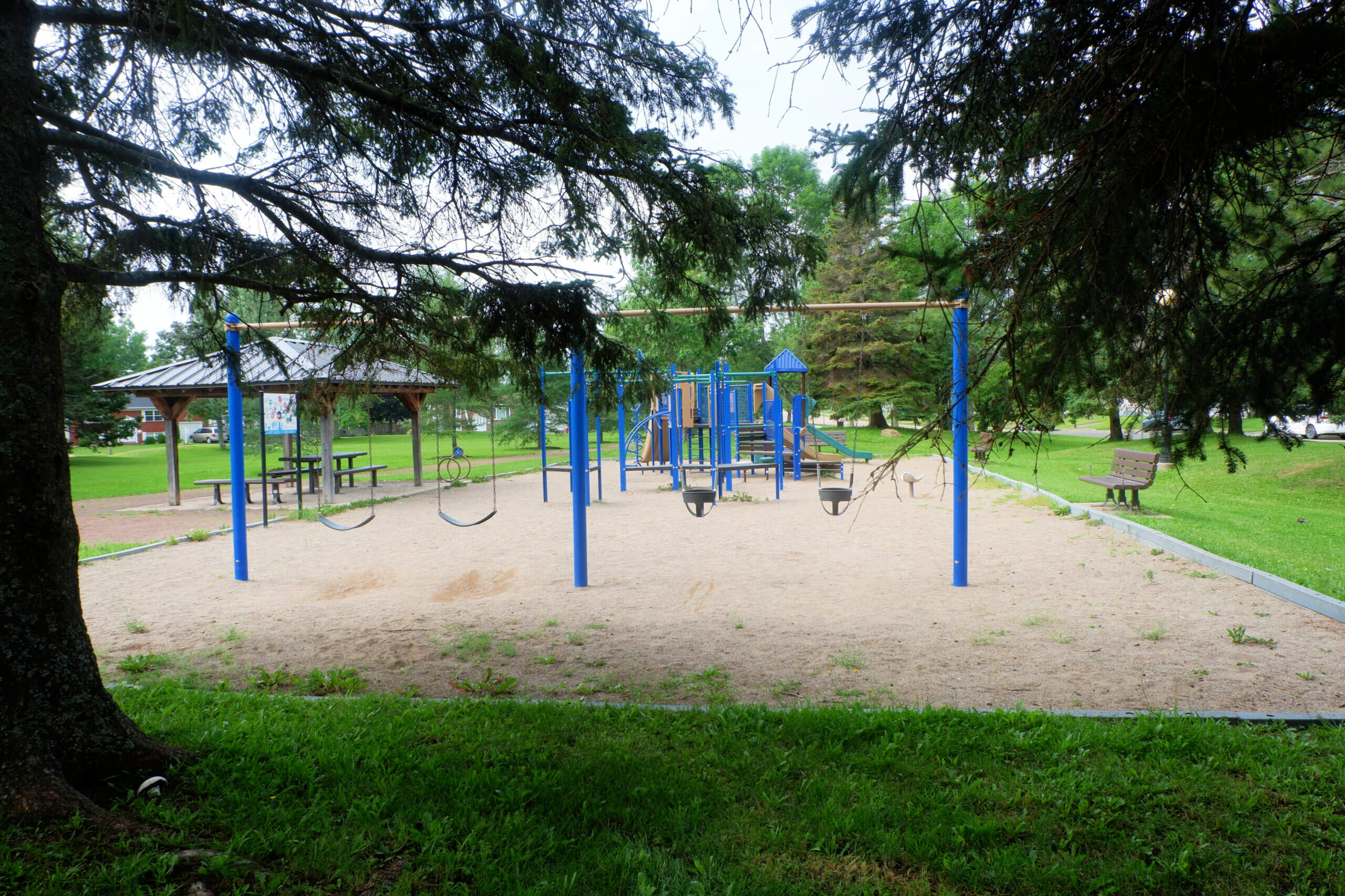 hildegard park pickle planet playground moncton green space shade
